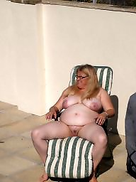 Public bbw, Fat, Bbw flashing, Fat bbw, Saggy, Outside