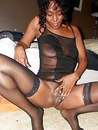 Ebony, Lingerie, Stockings