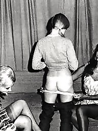 Vintage stockings, Spanking