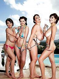 Natural tits, Bikinis, Big natural, Busty bikini, Natural, Flashing tits