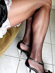 Mature stockings, Shoes