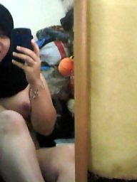 Hijab, Selfshot, Asian amateur