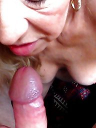 Sucking, Mature tits, My wife, Cocks, Tit sucking, Mature blowjob