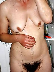 Hairy, Hairy amateur, Shower