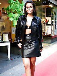 Leather teen, Leather, Leather skirt, Skirt, Teen skirt