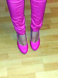 Heels, Pumping, Amateur heels, Pink, Teen heels, Shoes