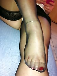 Toe stocking, Stockings toes, Stocking toes, In black, Black stockings, Black stocking
