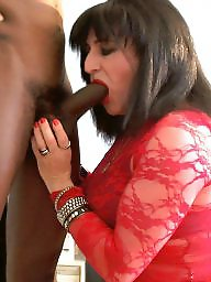 Interracial blowjob, Milf blowjob