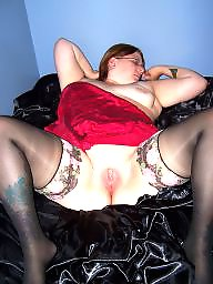 Bbw, Amateur stockings, Red stockings, Red