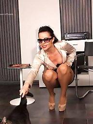 Heels, Milf heels, Gina, Brunette milf