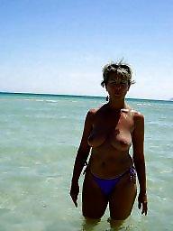 Beach, Milf beach, Beach tits, Beach milf