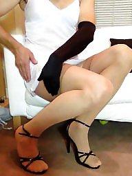 Voyeur dress, Stockings flashing, Stockings dress, Stocking flashing, Stocking dressed, Stocking dress