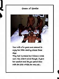 Queen of spades, Interracial captions, Cuckolds, Cuckold captions, Interracial, Caption