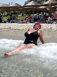 Beach mature, Mature beach, Mature big boobs, Mature boobs, Beach boobs