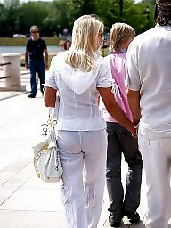 See thru, Dress, Hot pants, Candid, Wives, Pants