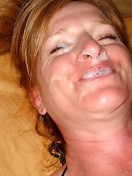 Milf facial, Mature facials, Mature facial, Wife facial, Mature cum, Amateur facial
