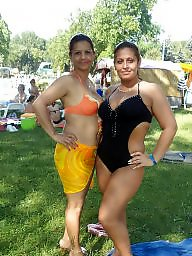 Daughter, Bikini, Mature bikini, Mom daughter, Mom
