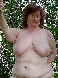 Nude granny outdoor
