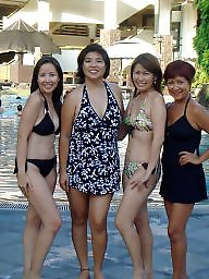 Asian milf, Party