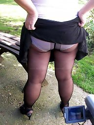 Mature pantyhose, Mature upskirt
