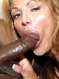 Mature interracial, Black cock