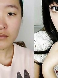 Makeups, Makeupe, Makeup girls, Before,after, Before&after, Before asian