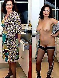 dressed Chubby amateur undressed milf