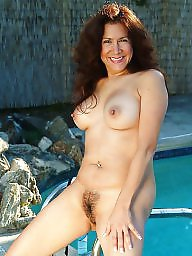 Mature hairy, Pool, Mature pool, Hairy mature