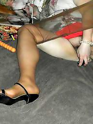 Bbw stockings, Heels, Nylon, Tight, Nylons, Mature bbw