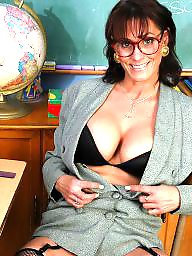 Teacher, Mature boobs, Brunette mature, Mature brunette, Teachers, Mature teacher