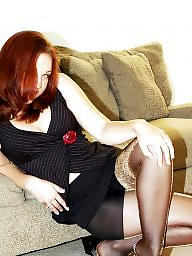 X heels, Stockings high heels, Stockings heels, Stockings brunette, Stockings blonde, Stockings and mules