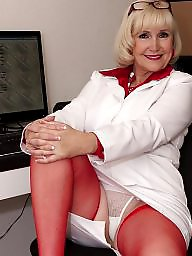Older ladies in nylons