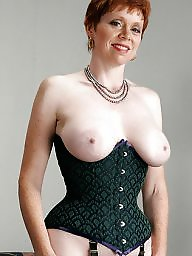 Corset, Mature big boobs, Mature corset, Corsets, Mature boobs, Plain