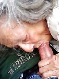 Amateur granny, Granny, Sucking