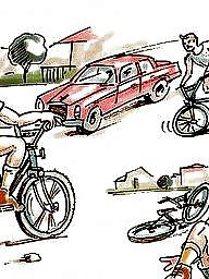 Mishapes, Biking, Bikes, Biked, Bike, Cartoons old young