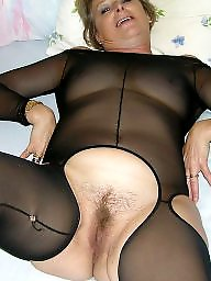 Bodystocking, Nylon mature, Mature nylon, Mature nylons, Bodystockings, Black mature