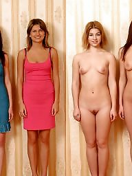 Dressed undressed females