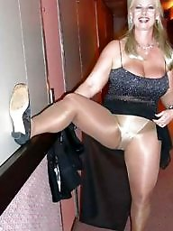 wearing Amateur pantyhose mature