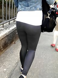Teen, Leggings, Legs, Ass, Candid, Teens