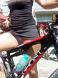 Teen upskirt, Upskirt ass, Bike, Teen panties, Panties