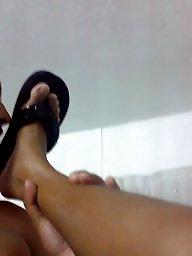 Wife,s feet, Wife s feet, Wife feet, Wife with 2, Platforms, Platform flip flop