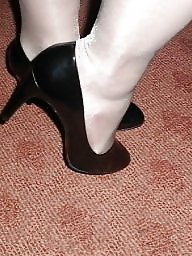 Shoes, Black stockings