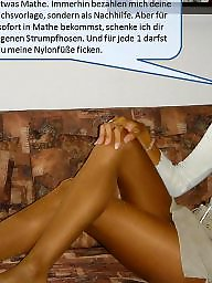 Femdom caption, Nylon captions, Femdom captions, Nylon, Nylons, Deutsche captions