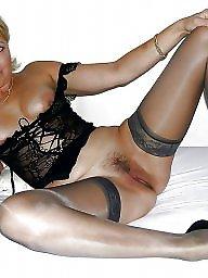 Stockings upskirt, Upskirt stockings, Wide open, Nylon, Wide, Nylon upskirt