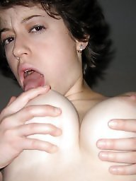 My wife, Tit sucking