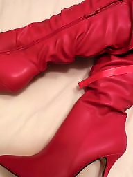 Boots, Stockings, Red