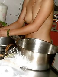 Chinese milf, Chinese, Nude couples, Kitchen