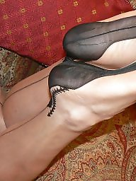 Stockings, Amateur stockings, Black stockings