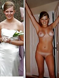 undressed Bride getting