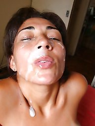 Mature facial, Brazilian, Wife, Latin, Mature wife